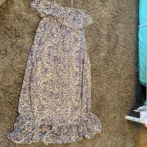 Motherhood Maternity ruffle maxi dress